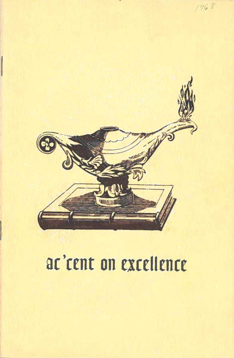 1968 Recognition Program Cover