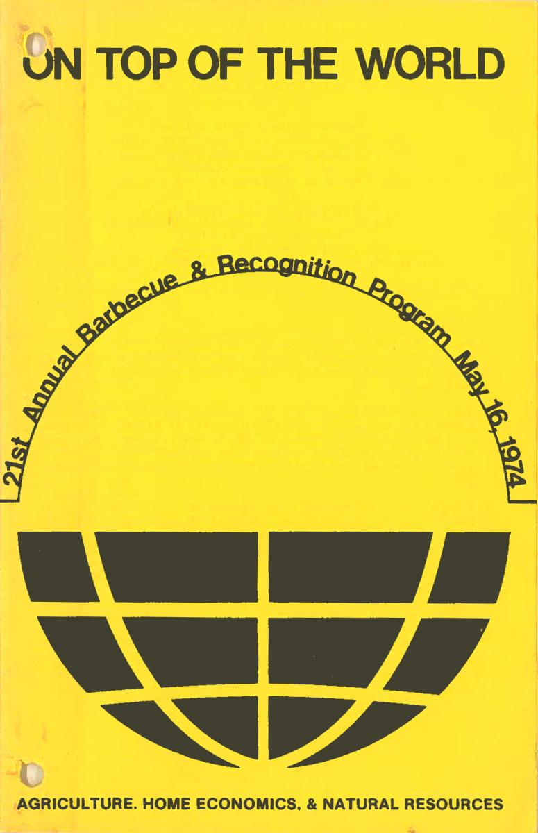 1974 Recognition Program Cover