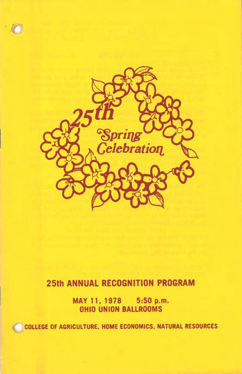 1978 Recognition Program Cover