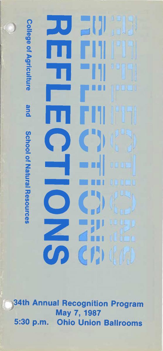 1987 Recognition Program Cover