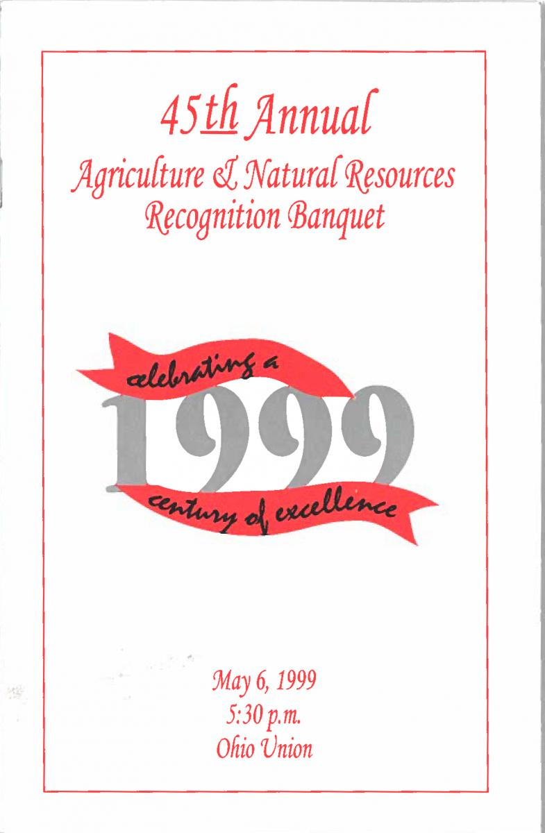 1999 Recognition Program Cover