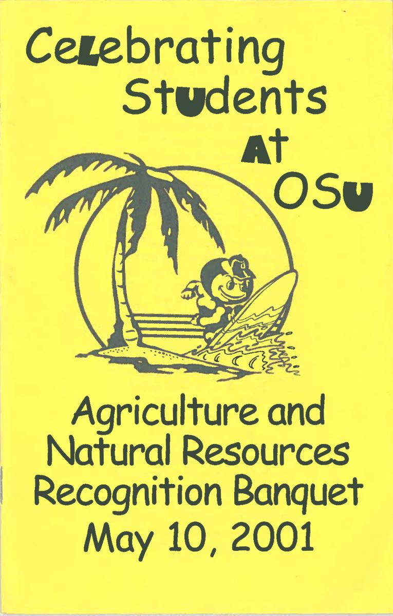 2001 Recognition Program Cover