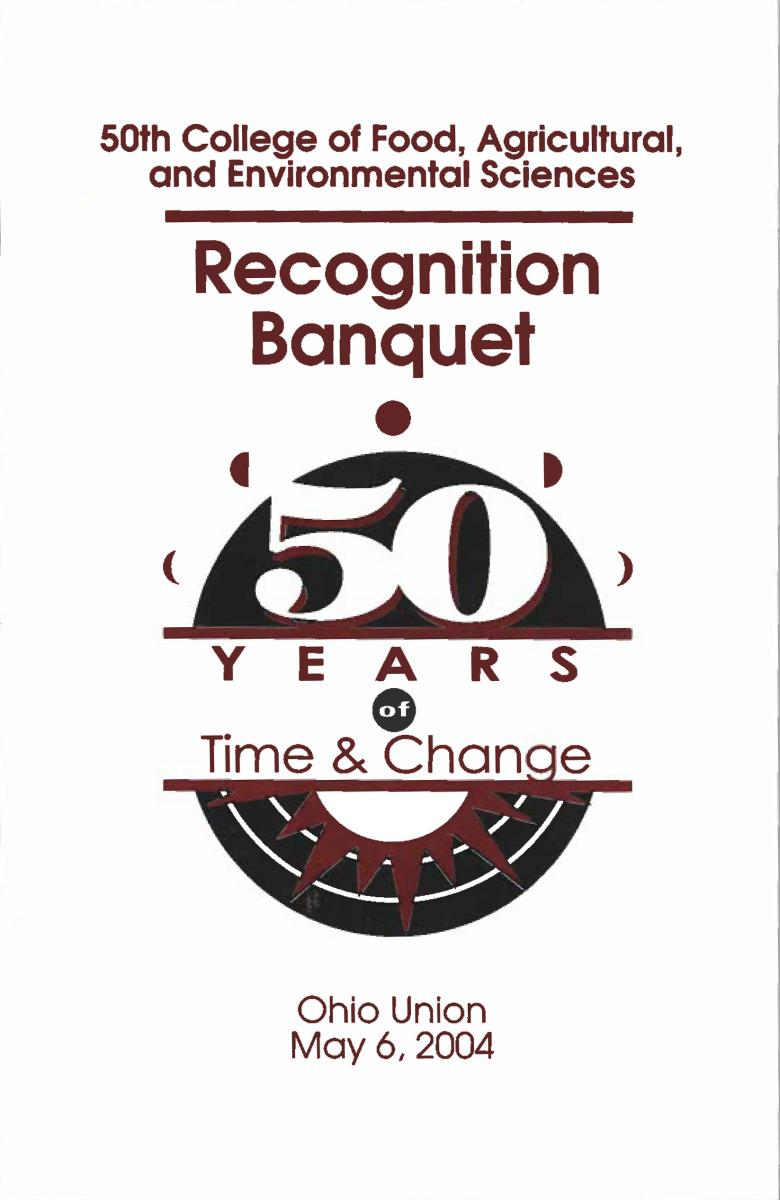 2004 Recognition Banquet Cover