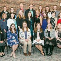 2018 Outstanding Seniors with Dean Cathann Kress