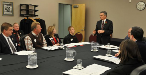 Dr. Moser addresses the CFAES Alumni Board at their March 3, 2012 meeting